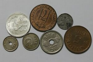 FINLAND + NORWAY & DENMARK OLD COINS LOT B38 BBB39