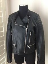 Burberry Brit Kirstlane Leather Biker Moto Jacket Size US 10 - NWT $1995