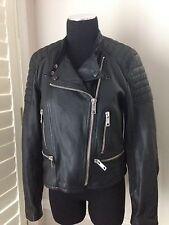 Burberry Brit Kirstlane Leather Biker Moto Jacket Size US 10 - NWT $1995