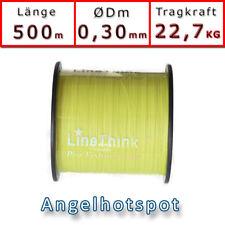 500m (0,044€/m) Angelschnur Gelb Rundgeflochten 0,30mm 22,7KG Angelhotspot X