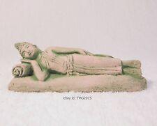 "Thailand ""SAKYAMUNI SLEEPING BUDDHA"" Sandstone Statue"