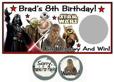 10 Star Wars Birthday Party Scratch Off Game Cards Lottery Tickets
