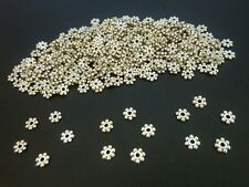 400 pce Antique Silver Daisy Spacer Beads 4mm Jewellery Making Craft