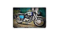 1960 ajs csr Bike Motorcycle A4 Retro Metal Sign Aluminium