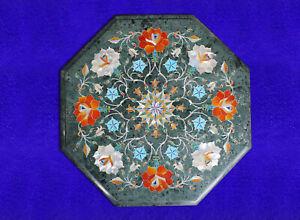 "12"" Marble corner Table Top Inlay Work Home Decor / Handmade Work"
