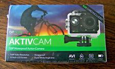 AKTIVCAM 720p WATERPROOF ACTION CAMERA, BRACKET, HELMET/BIKE MOUNT, 4GB MEMORY