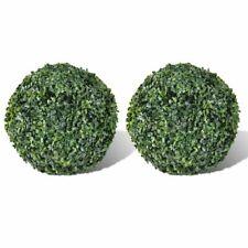 vidaXL 2x Boxwood Ball 27cm Artificial Leaf Topiary Ball Outdoor Indoor Decor