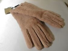 New BURBERRY Genuine Shearling Gloves -Dusty Pink -Size 7.5