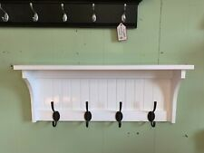 Custom Coat Rack , Wood Wall Shelf with Coat Hooks , Wall Mounted