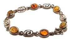 3 Amber Mix .925 Silver and Gemstone Bracelet