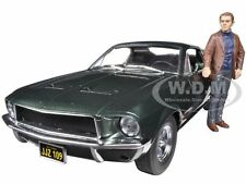 1968 FORD MUSTANG GT BULLITT WITH STEVE MCQUEEN FIGURE 1/18 GREENLIGHT 12885