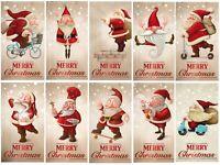 10 lustige Weihnachtskarten / Set mit 10 witzigen Weihnachtsmann-Motiven