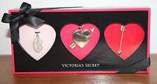 NEW VICTORIA'S SECRET CHARM NECKLACE SET HEART LIPS ARROW GIFT BOX CHAIN GOLD