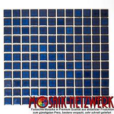 Mosaik kobalt blau Keramikmosaik Fliese Wand Boden Dusche Bad Art: 18-0405 1 qm