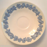 ❤WEDGWOOD QUEENSWARE DEMITASSE SAUCER ETRURIA SMOOTH BLUE ON WHITE 4 AVAILABLE❤