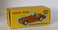 REPRO BOX DINKY n. 103 AUSTI Healey 100 Sports Rosso