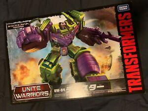 Transformers Takara New Sealed MISB Unite Warriors UW-04 Devastator AFA Ready