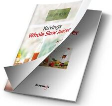 NEW Kuvings Cold Press Whole Fruit Slow Juicer Recipe Book