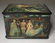 "Kholui Russian Lacquer Box Casket Five Sides ""The Tinderbox "" Babarkina"