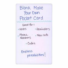 Blank Plastic Pocket Card Lab Coat Index Card Size Make Your Own Reference RN MD
