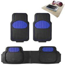 Universal Rubber Floor Mat Football Design Blue for Car SUV Van w/ FREE Gift