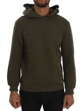 NEW $200 DANIELE ALESSANDRINI Sweater Green Pullover Hodded Cotton Mens s. M