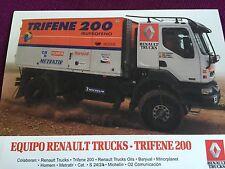 RARE Carte Postale Postcard CP RENAULT TRUCKS Rally Paris Dakar 2000