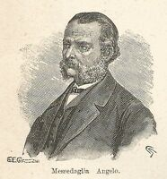 A7252 Angelo Messedaglia - Stampa Antica del 1928 - Xilografia