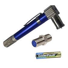 Pocket Toner Tool Coax Cable Tracker Toner w/battery + Bonus Barrell Connector