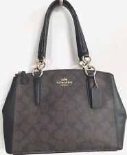 NWT Coach 58290 mini Christie Carryall Signature Brown / Black