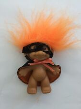 Russ Troll Doll! 3� Orange Hair Halloween Mask And Cape - new