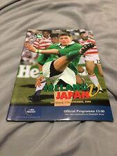 More details for 2000 ireland v japan autumn test international rugby union programme vgc