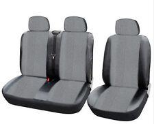 Kunstleder Grau 2+1 Sitzbezüge Schonbezüge Neu für Nissan Opel Peugeot Renault