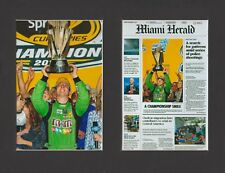 KYLE BUSCH WINS 2015 SPRINT CUP MATTED PICS OF NEWSPAPER & TROPHY CELEBRATION