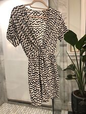 & Other Stories Short Sleeved Dress Black and White Print  Size S
