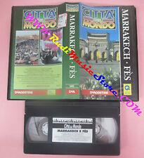 VHS film MARRAKECH FES citta' del mondo 1997 DE AGOSTINI CDM 24 (F153)no dvd