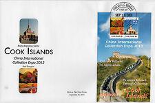 Isole Cook 2013 FDC Cina INT corruzione EXPO CICE 2) / S / S copertura Paul GAUGIN Pechino