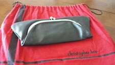 CHRISTOPHER KON SOFT BLACK LEATHER CLUTCH ☆ CARRIED ONCE ☆ MINT CONDITION!