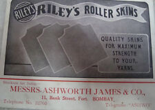 Old vintage Blotter paper of Riley's Roller Skins co. from India 1930