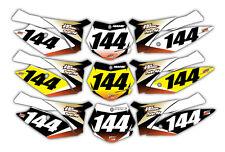 Motocross KTM 125 Up Backgrounds Graphics 2011 - 2012 Custom Decals