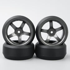 RC 4Pcs 3° Drift Tires&Wheel D5M 12mm Hex For HPI HSP 1:10 On-Road Racing Car