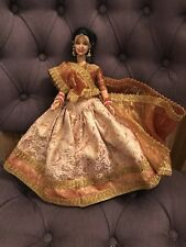 Indian Barbie Doll Gold Sari With Jewellery, Bride, Diwali, Mattel