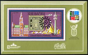 Hungary C345 S/s, MNH. Bavaria #1, Munich City Hall, TV Tower, Olympic tent,1973