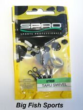 SPRO TARU SWIVELS- BARREL SWIVELS #STRSB-10-15 NEW! QTY 15, SIZE 10, TEST 37LB