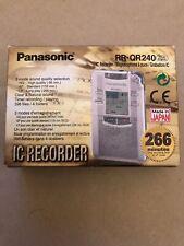 Panasonic Ic Recorder Rr- QR240
