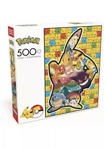 Pokemon Puzzle 500 Piece Pikachu Silhouette Buffalo Games and Puzzles