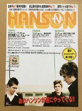 $0 ship! HANSON Japan PROMO flyer MINI poster 2004 tour MORE HANSON IN STOCK