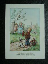Alte AK , Junge mit Ziehharmonika, Der lieben Mutter.. , Fabig Distling , (C782)