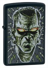More details for personalised zippo lighter bolted man black matte - zippo 24448 engraved gift