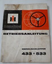 IHC Schlepper 433 + 533 Betriebsanleitung